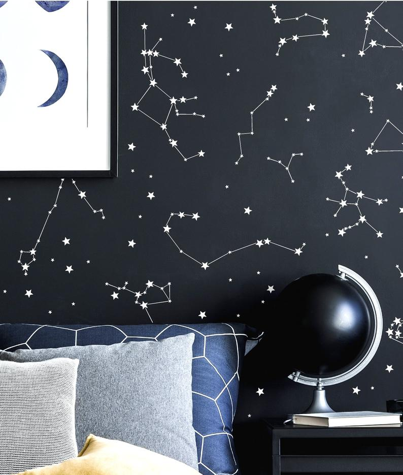 Constellation Stickers Constellation Decals Astronomy Wall Etsy Kids Room Wall Decals Constellation Wall Decal Constellation Decal