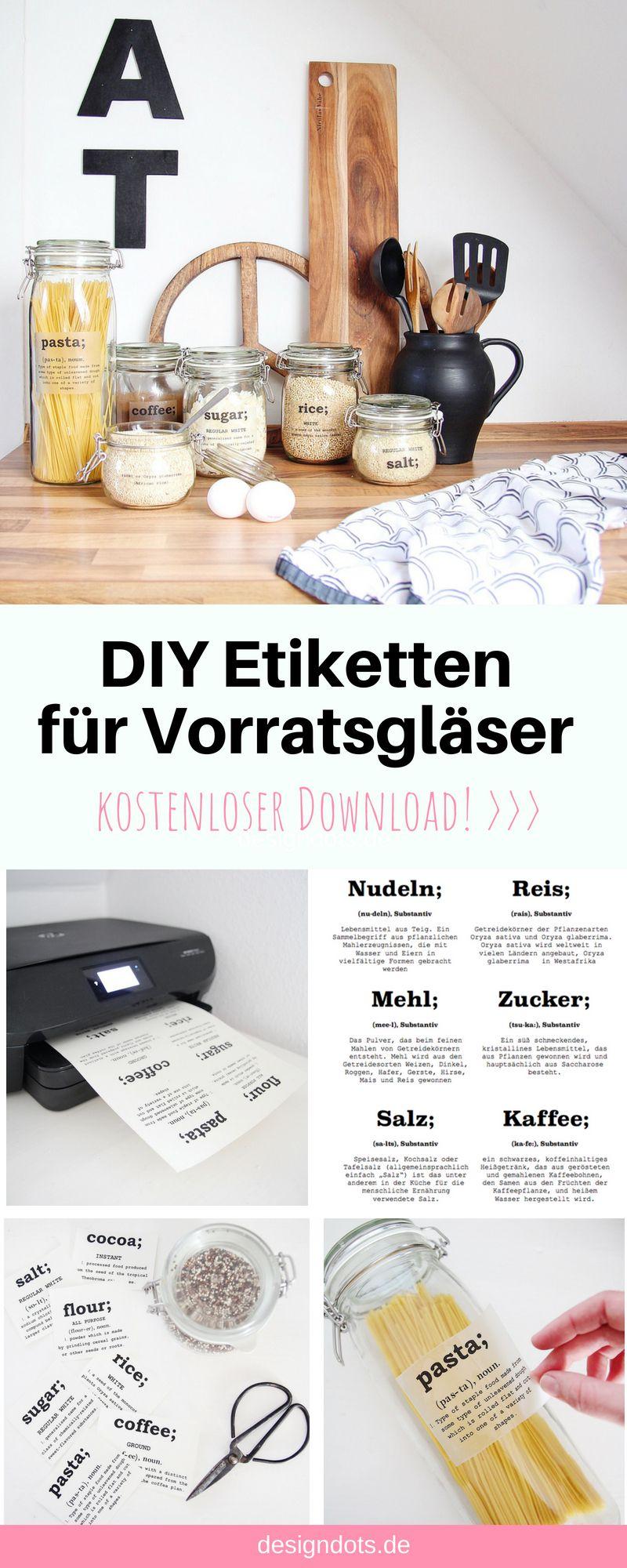Photo of DIY Etiketten für Vorratsgläser zum ausdrucken
