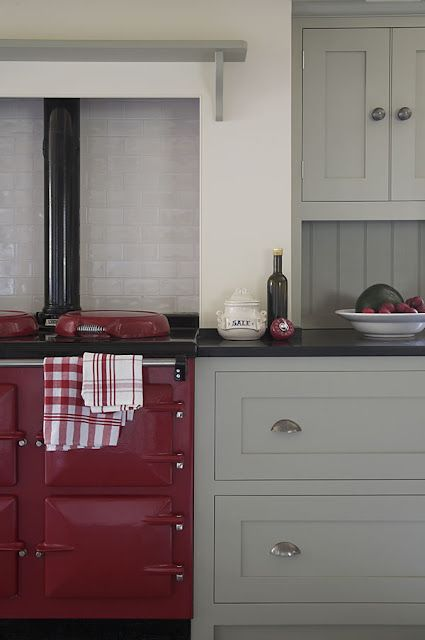 Great Colors with a Red AGA! AGA Pinterest Gris, Rouge et Cuisines