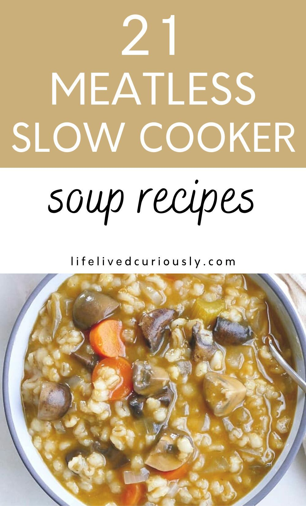 21 Crock Pot Vegetarian Soup Recipes Life Lived Curiously In 2020 Vegetarian Crockpot Recipes Vegetarian Crockpot Vegetarian Soup Recipes