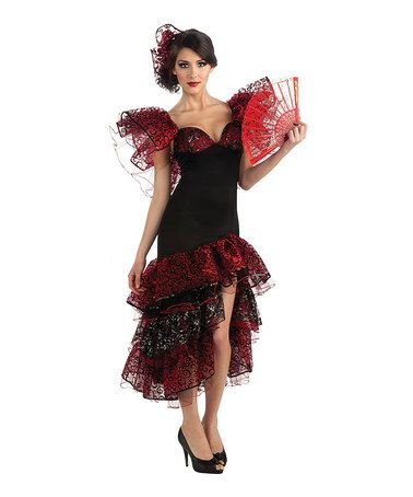 This Black & Red Flamenco Dancer Costume Set - Women is perfect! #zulilyfinds