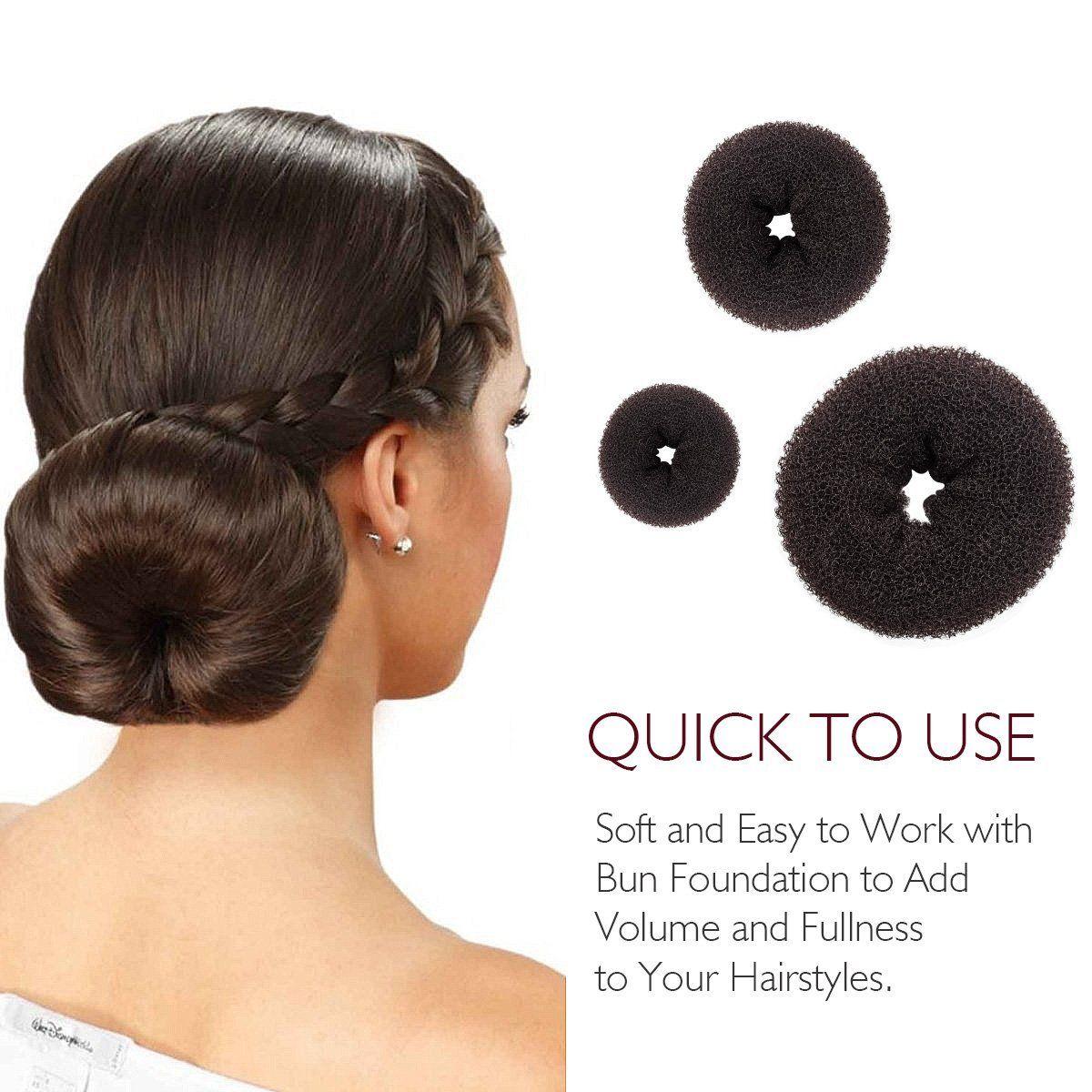 3 Pcs Magic Hair Bun Maker French Twist Donut Former Ring Round Buns Hairstyle Tools Diy Doughnuts Chignon S Donut Bun Hairstyles Bun Hairstyles Hair Bun Maker