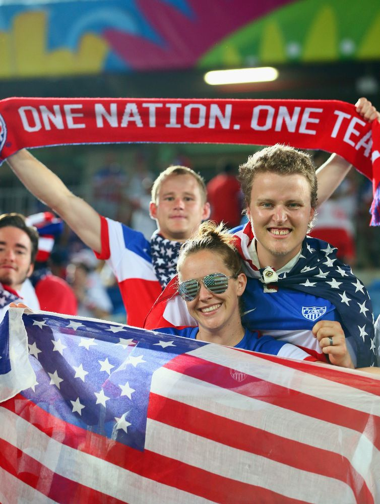 Photos The Usa Fans In Brazil Were Amazing World Football American Sports World Cup