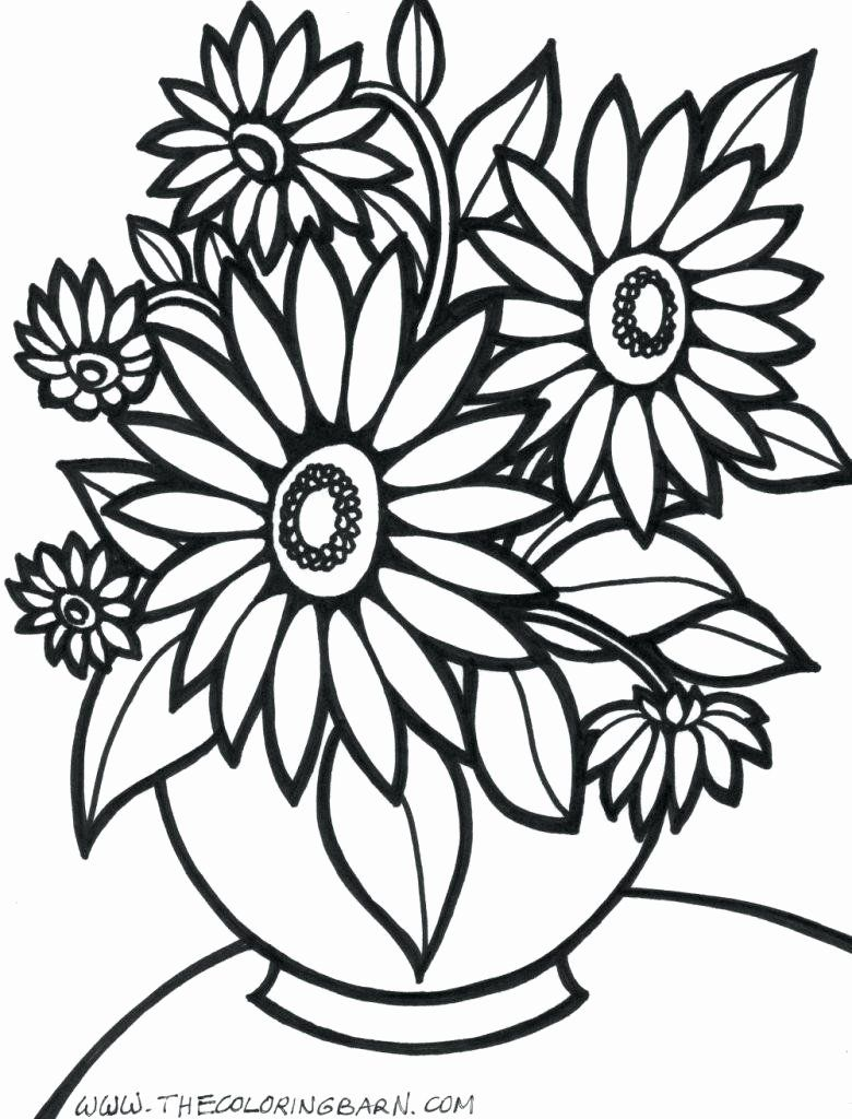 Flower Coloring Pages Adults Unique Coloring Pages Simple Flowerloring Book Pages Disney Free In 2020 Flower Coloring Pages Flower Coloring Sheets Coloring Pages
