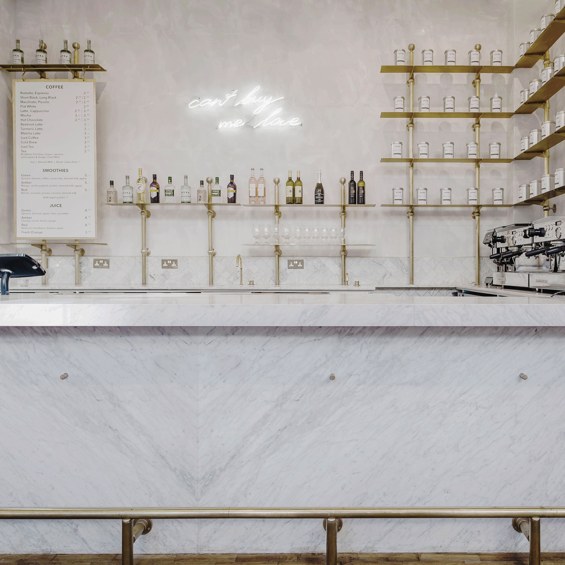 Biasol designs marble-rich cafe in historic London stock exchange ...