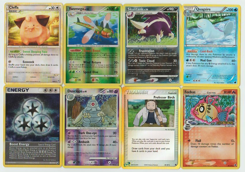 Pokemon Lot Of 8 Cards With Rares All Pictured Not Perfect With