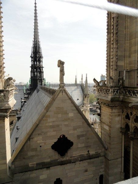 View from above Notre Dame