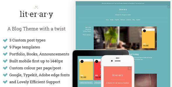 Literary: A WordPress Blog Theme with a twist - Personal Blog ...