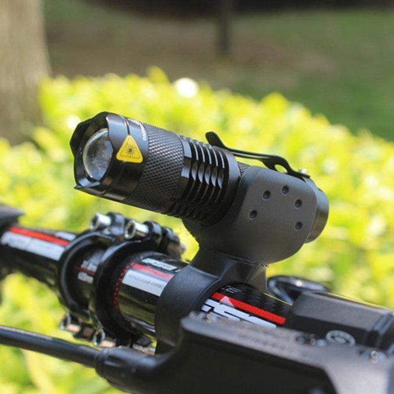 1200lm Cree Q5 Led 360 Mount Head Front Light Flashlight For Cycling Bike Bicycl Bike Lights