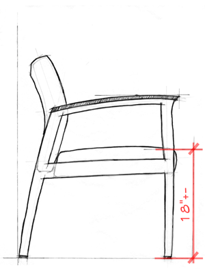 Healthcare Design Guest Chairs A Seat Height Of Roximately 18 Is Best For