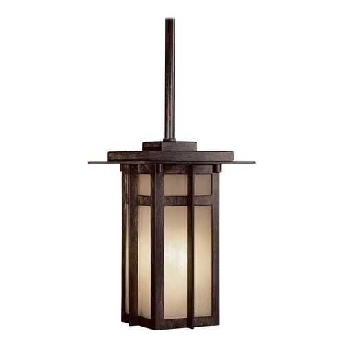 Outdoor Hanging Light with Beige / Cream Glass in Aluminum Finish | 71190-A357-PL | Destination Lighting