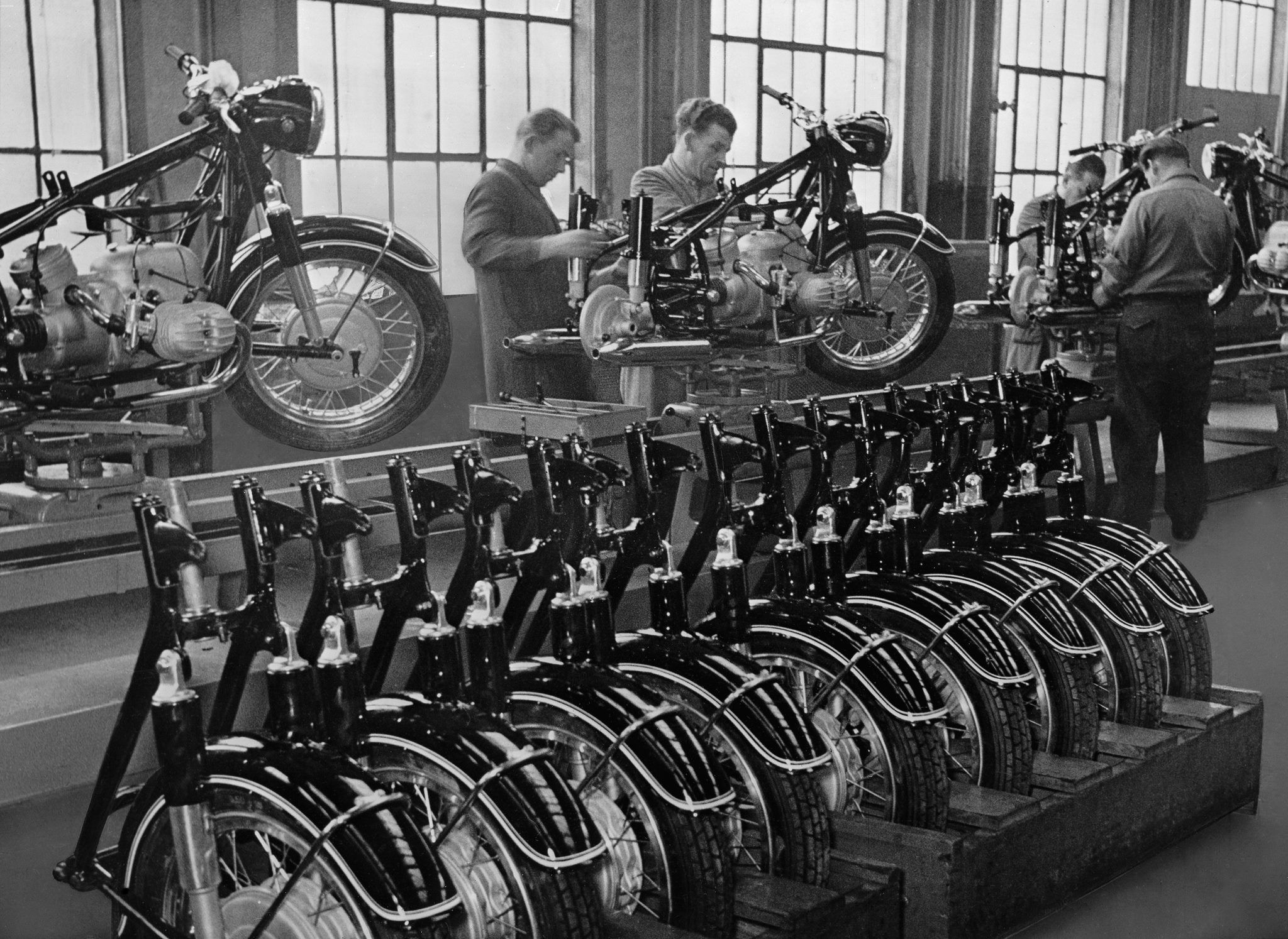 Photo #463 - Bmw R50 Final Assembly Line 1955 @ Munich