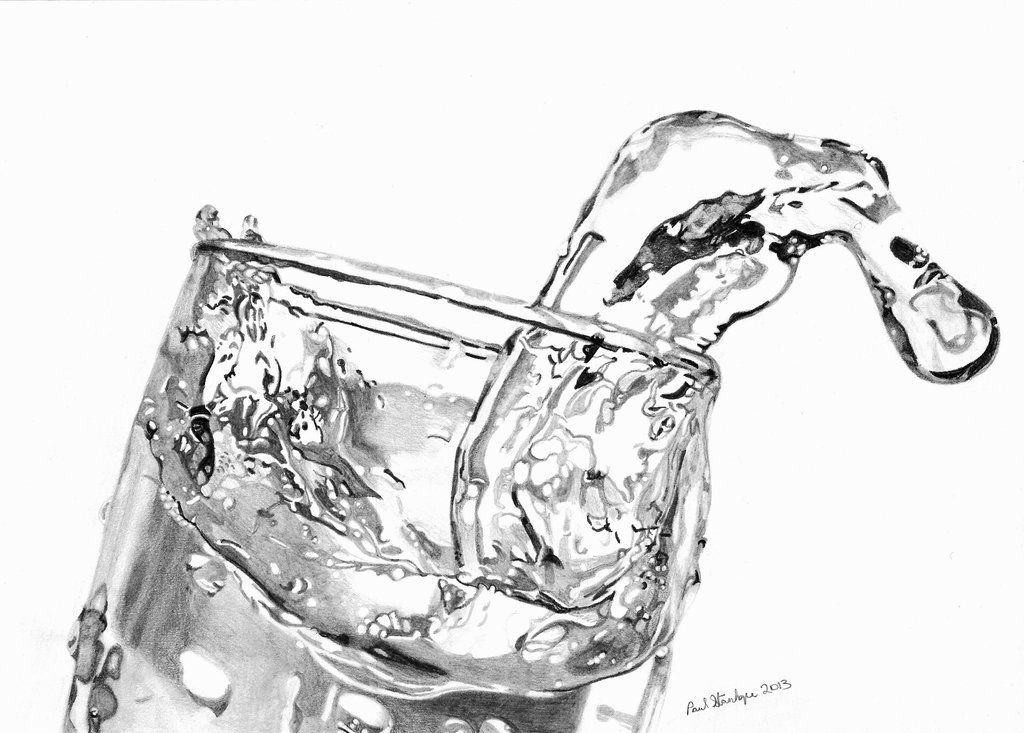 Glass Of Water Drawing Fsdbvbz | ART | Pinterest | Water ...