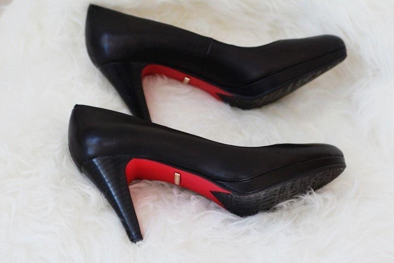 belmondo pumps rote sohle high heels
