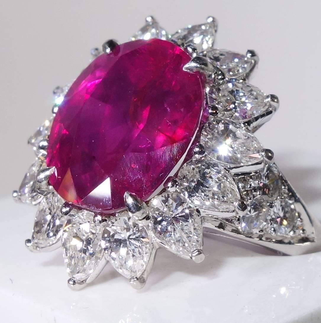 Bright red natural unheated Burma ruby ring image 2 Ruby