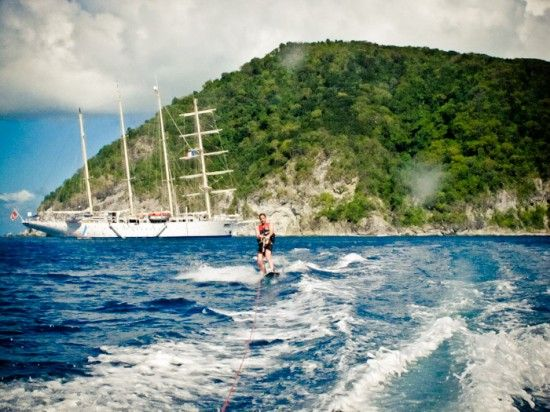 Water-skiing in Guadeloupe
