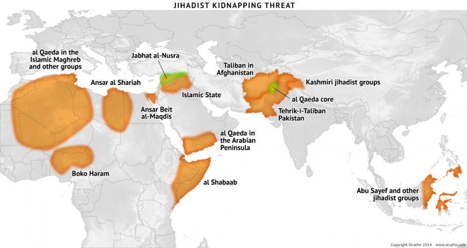 Jihadist Kidnapping Threat Httpinfostratforcomptlg Maps - Us navy ships aircraft carriers movement stratfor maps