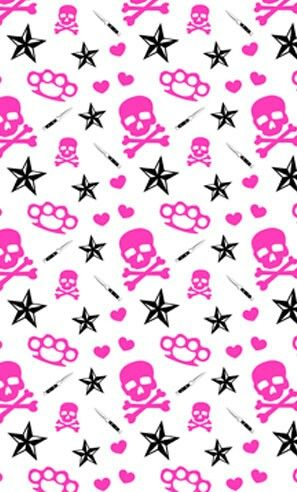 Pin by mt on girly skulls pinterest wallpaper skull 000000hot pink skull crossbonesg voltagebd Gallery