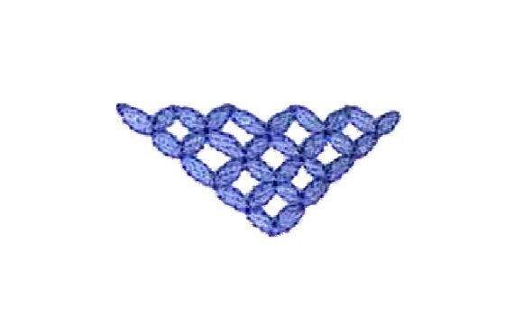 EZSew Embroidery Design Lattice Weave from Vintage Collection - Instant Download