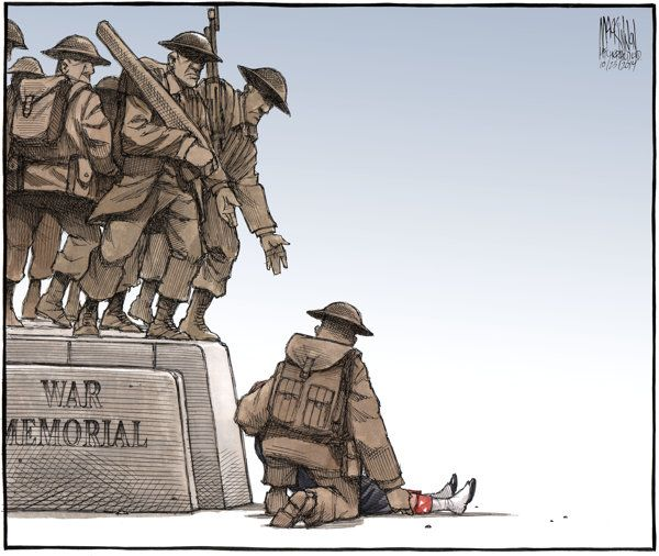 Bruce Mackinnon S Ottawa Shooting Cartoon A Poignant Image Of The