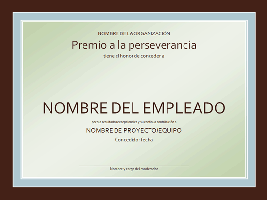ejemplo de diploma o certificado de reconocimiento al