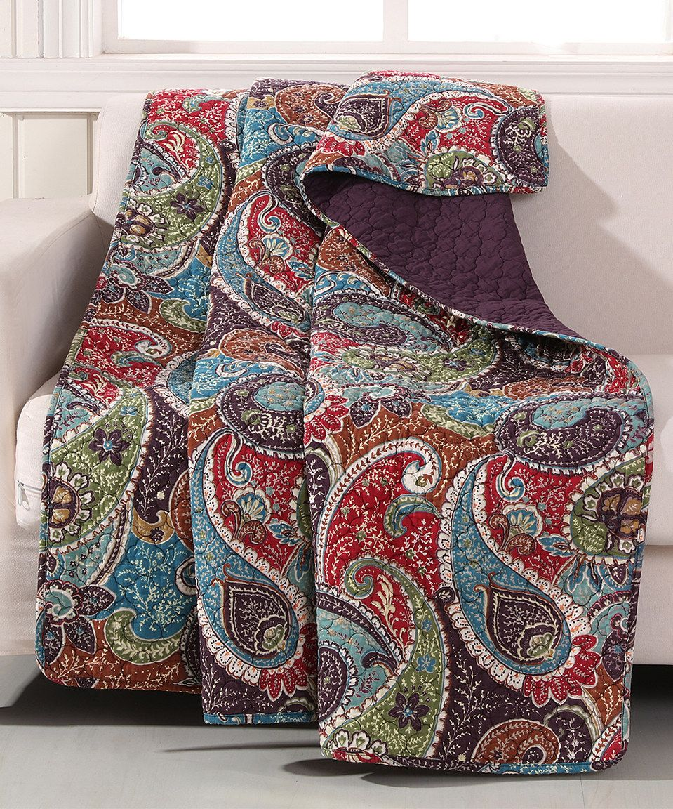 Look what I found on #zulily! Red & Blue Tivoli Throw by Greenland Home Fashions #zulilyfinds