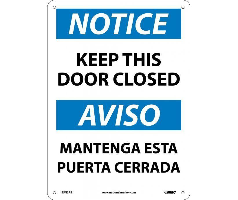 Osha Notice Bilingual Sign Esn2ab Nmc 14x10 Aluminum Each How To Speak Spanish Bilingual Private Property