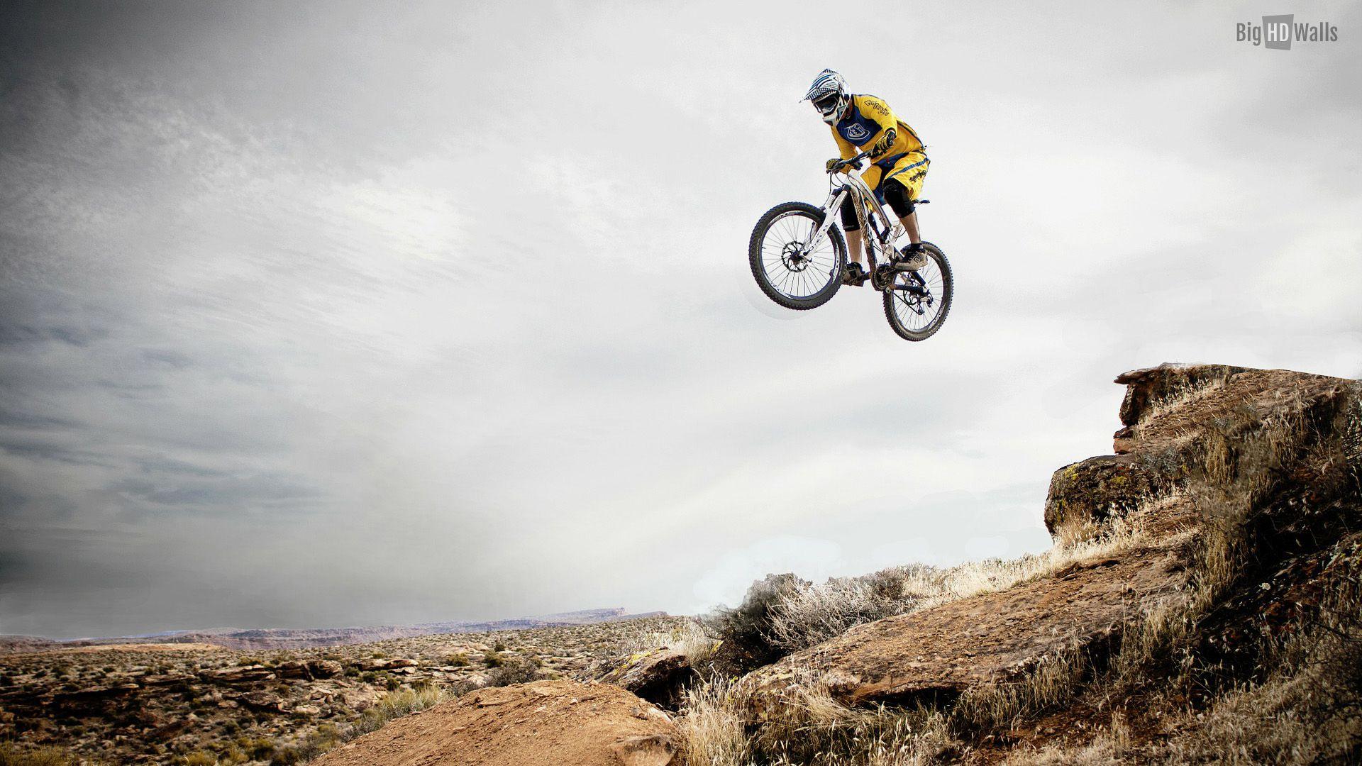 Downhill Mountain Biking Big Air