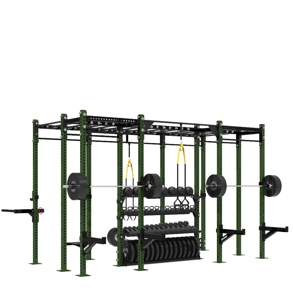Dynamic Fitness Strength 14 Training Rig Commercial Fitness Equipment Battle Ropes No Equipment Workout