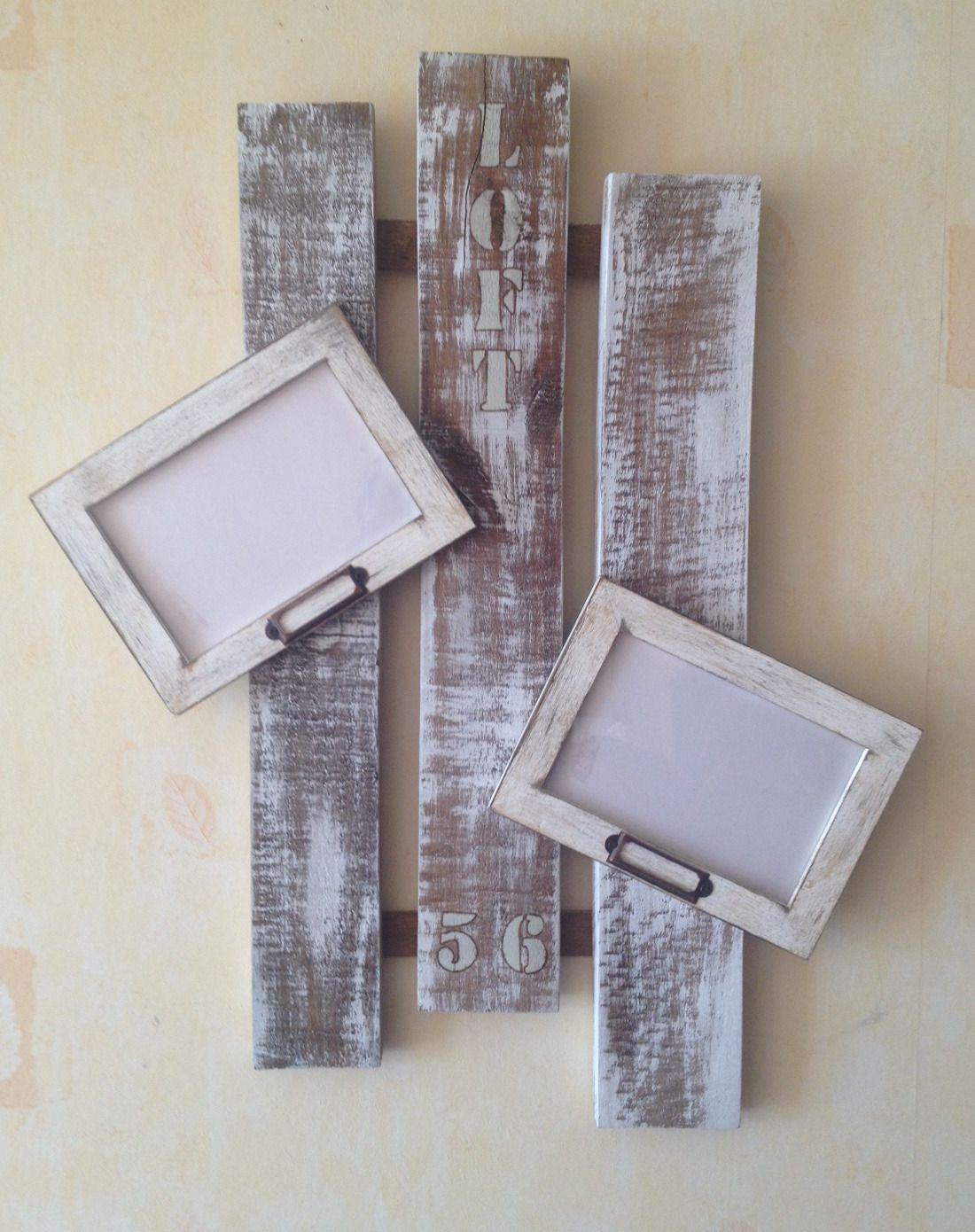 Cadre Original Pour Plusieurs Photos cadres photos sur bois de palette vieilli vintage design