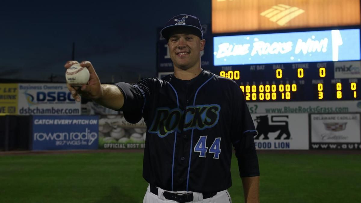 Bowlan S Historic No Hitter Helps Rocks Sweep Mudcats With Images Minor League Baseball