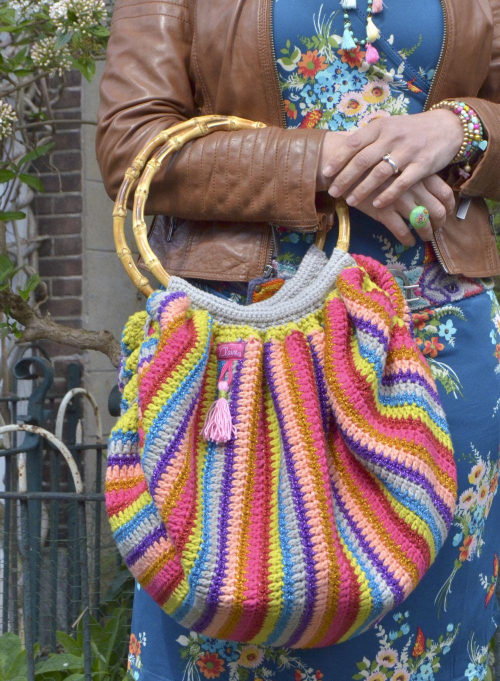 Haken Gratis Patroon Nederlands Tas Haakpatroon Beschrijving