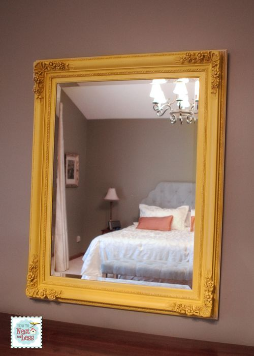 Painted Mirror for Master Bedroom  How to Nest for Less