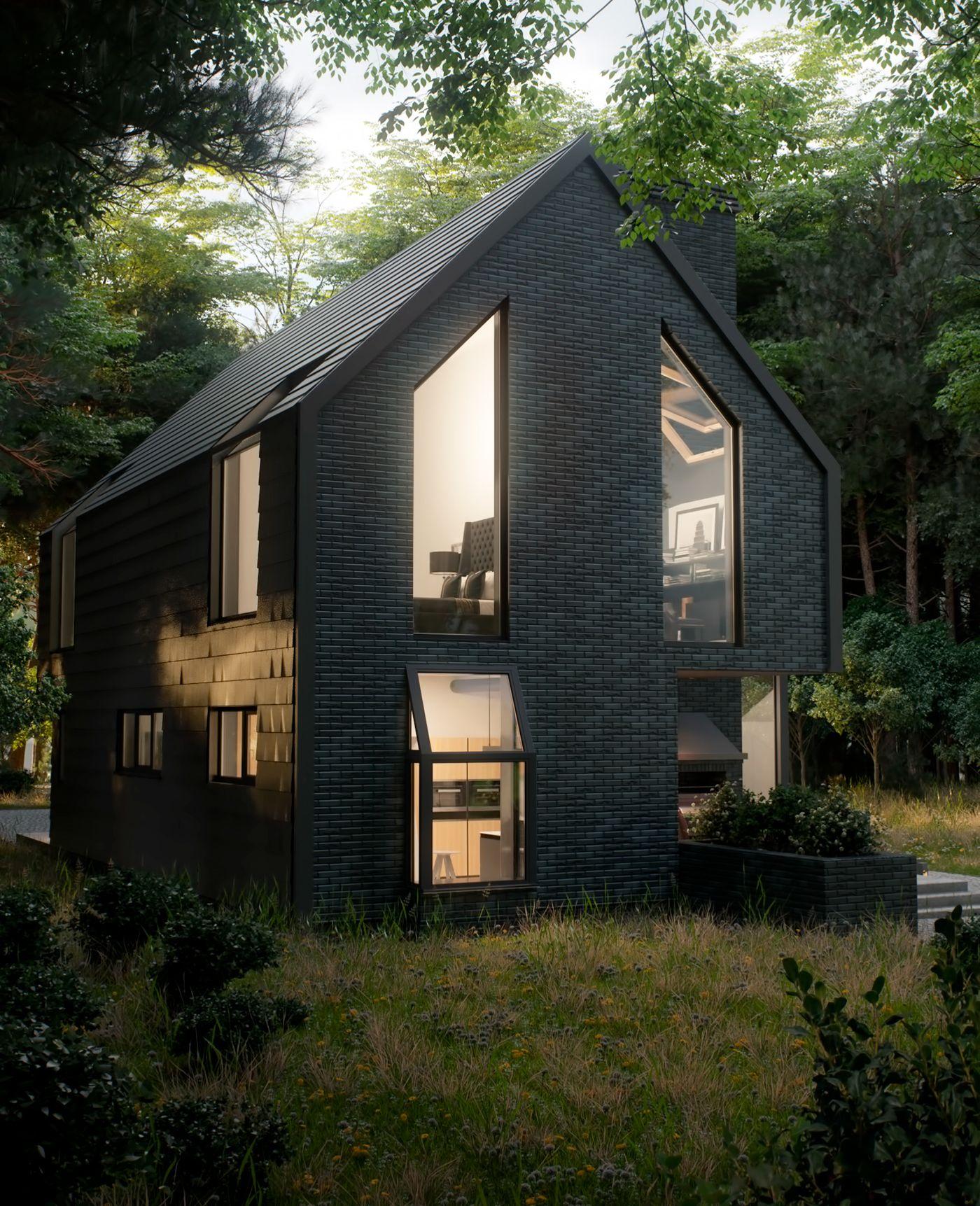 Черные дома картинки