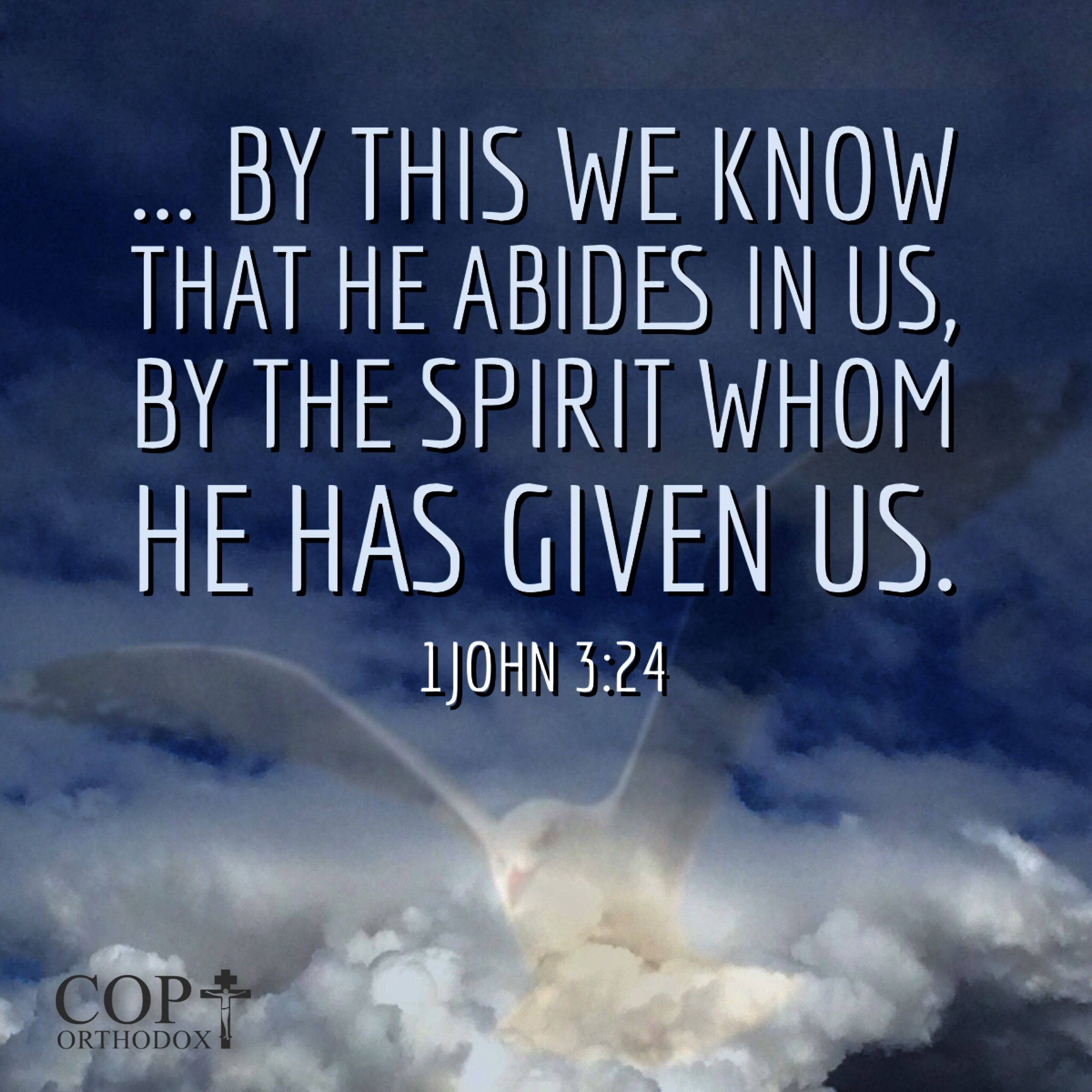 1john 3 24 now he who keeps his commandments abides in him and he