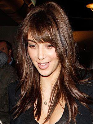 Kim Kardashian Goes Back To Bangs