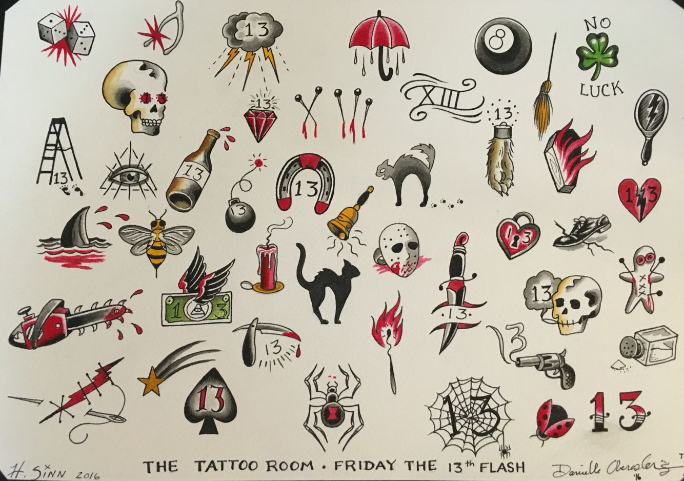 We are doing 31 tattoos this Friday May 13th 2016!! The