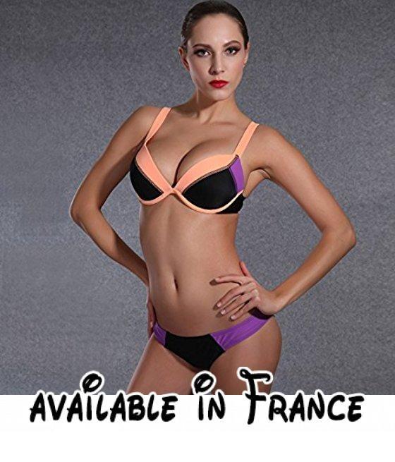 Thatch Maillot de bain pour femme Bikinis Maillots deux pièces Fashion Sexy,Blue,6XL