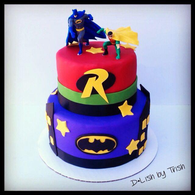Batman And Robin Cake Batman And Robin Birthday Pinterest