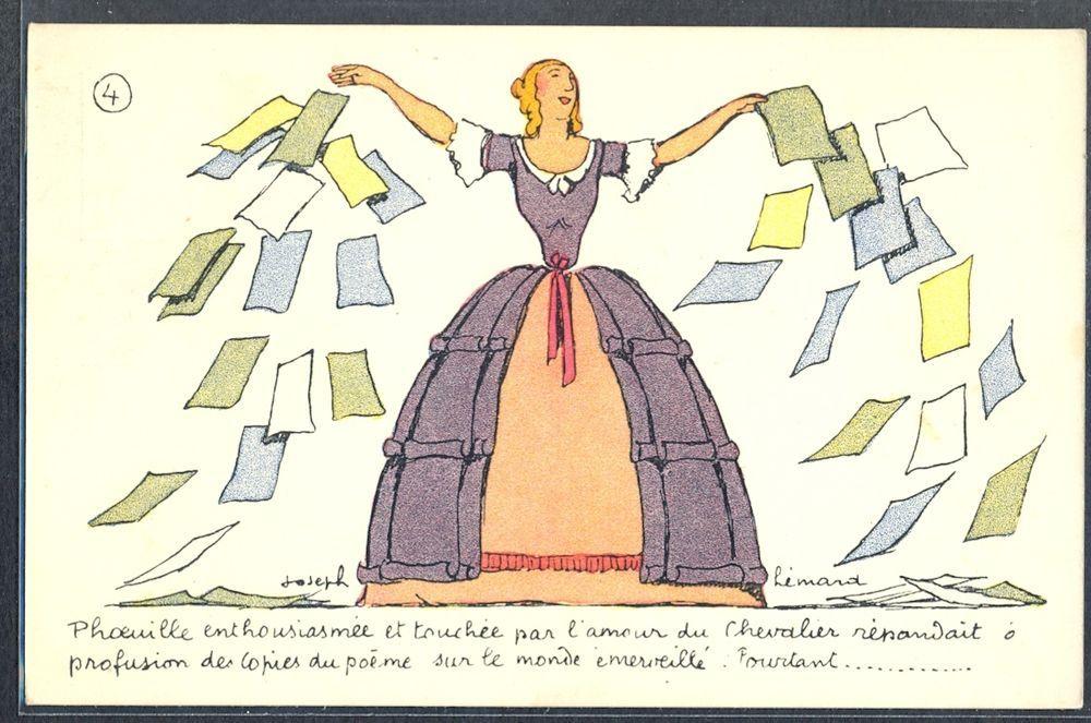 QL029 ART DECO a/s Joseph LEMARD Elegant LADY GOWN PAPERS