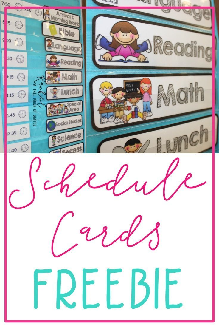 Free Set Of Schedule Cards For Your Classroom They Fit Great In A Pocket Chart Classroom Schedule Cards Classroom Schedule Kindergarten Schedule