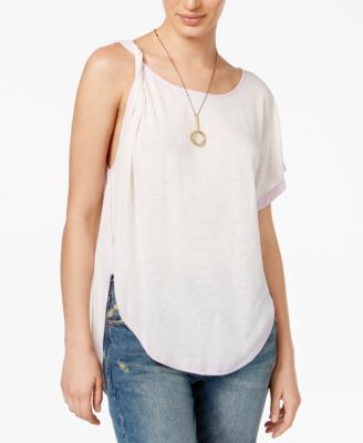 8c511fb162019c FREE PEOPLE Free People Pluto One-Shoulder T-Shirt.  freepeople  cloth    tops