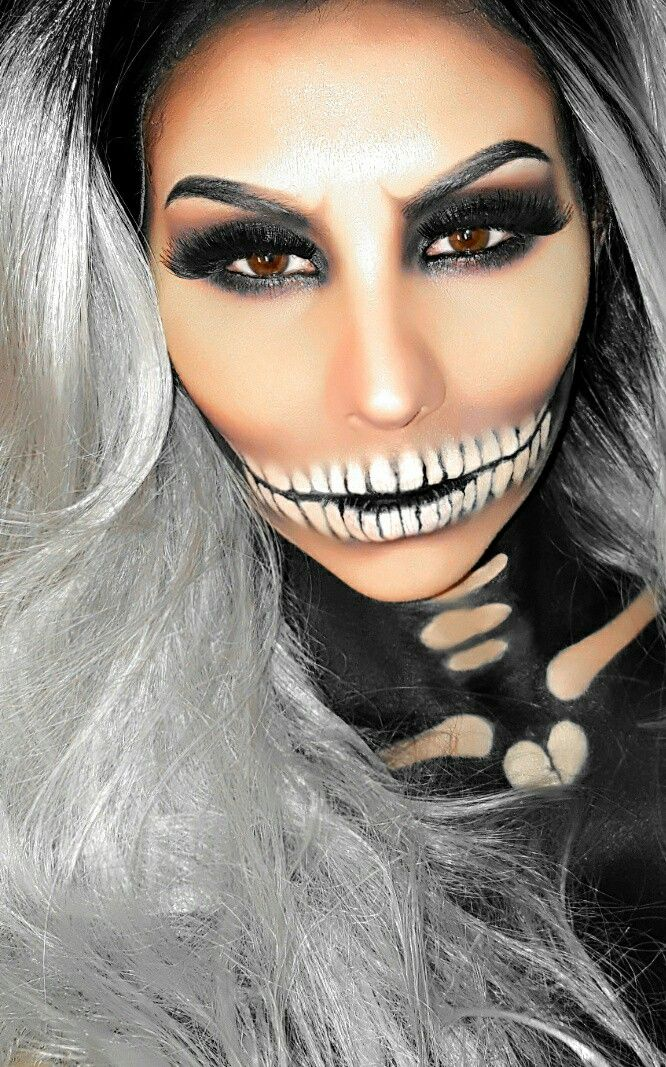 Halloween Make Up Skelet.Sexy Skull Makeup Sugar Skull Makeup Halloween Makeup
