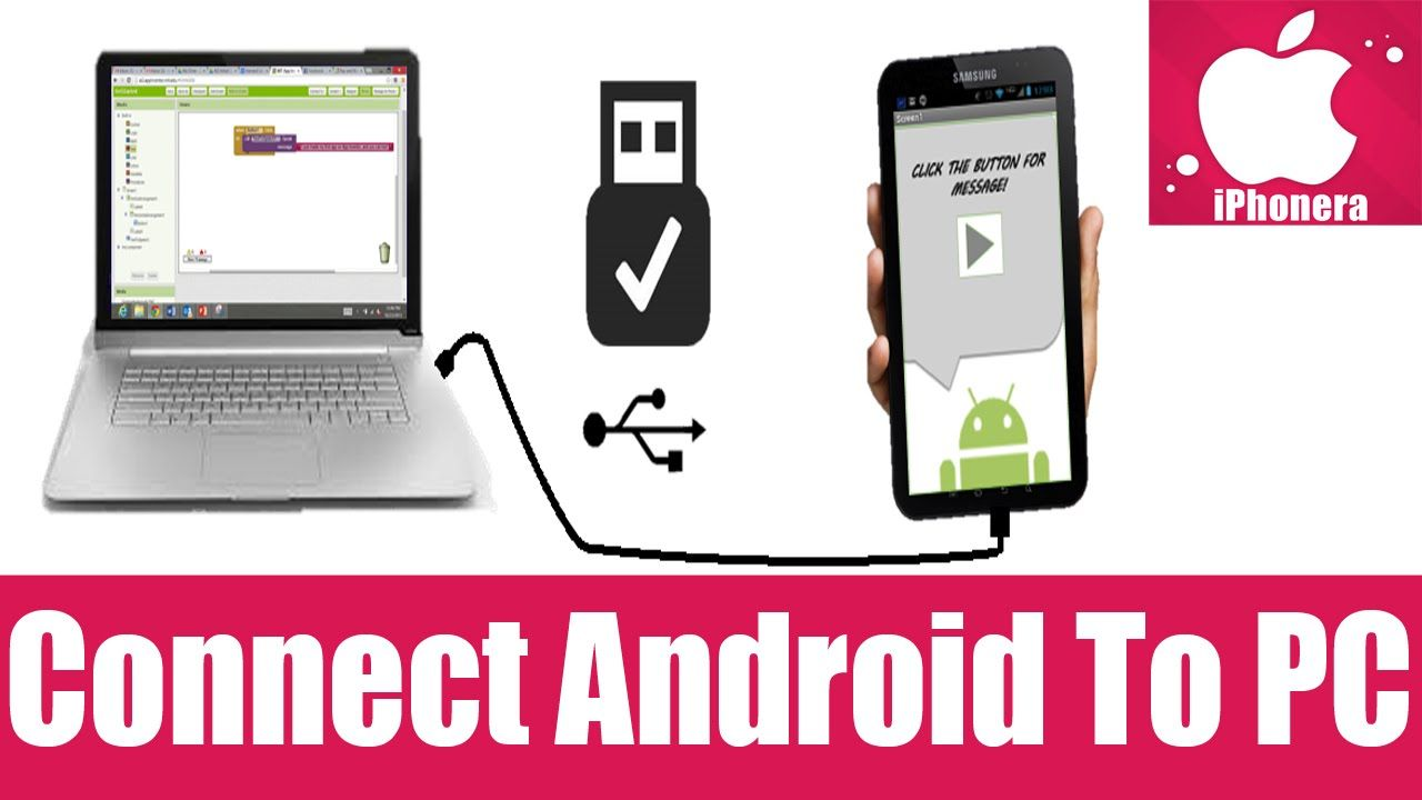 How To Connect Android Phone To PC Computer Via WiFi USB