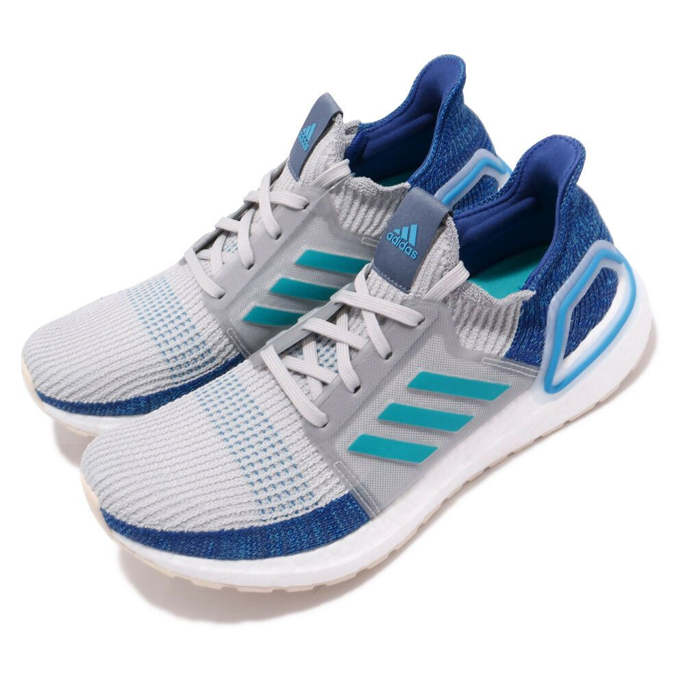 eBay Sponsored) adidas UltraBOOST 19 Grey Shock Cyan Blue
