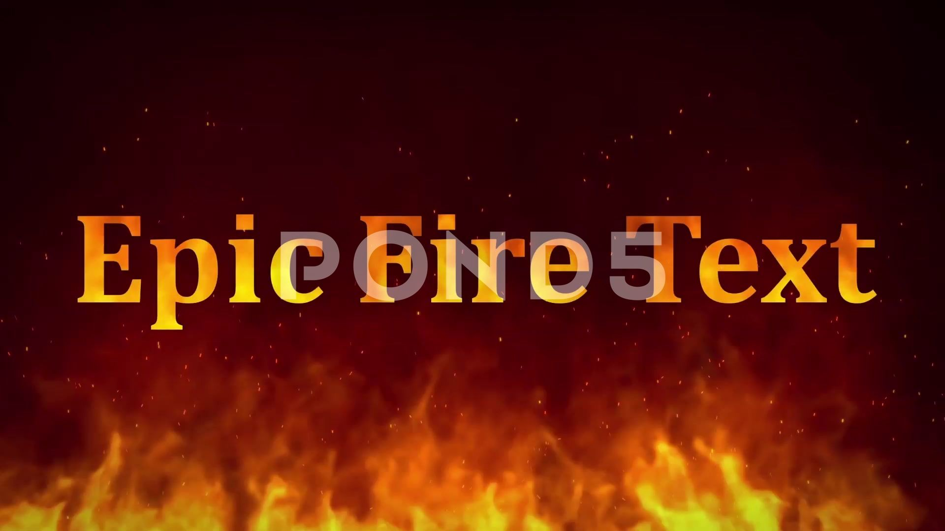 Pin On Cartel Design Inspiration Fire text after effects template