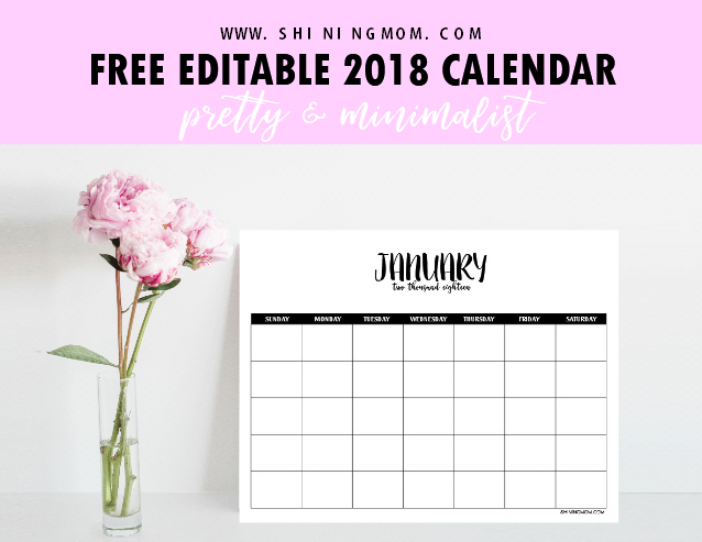 Free Fully Editable 2018 Calendar Template In Word Templates