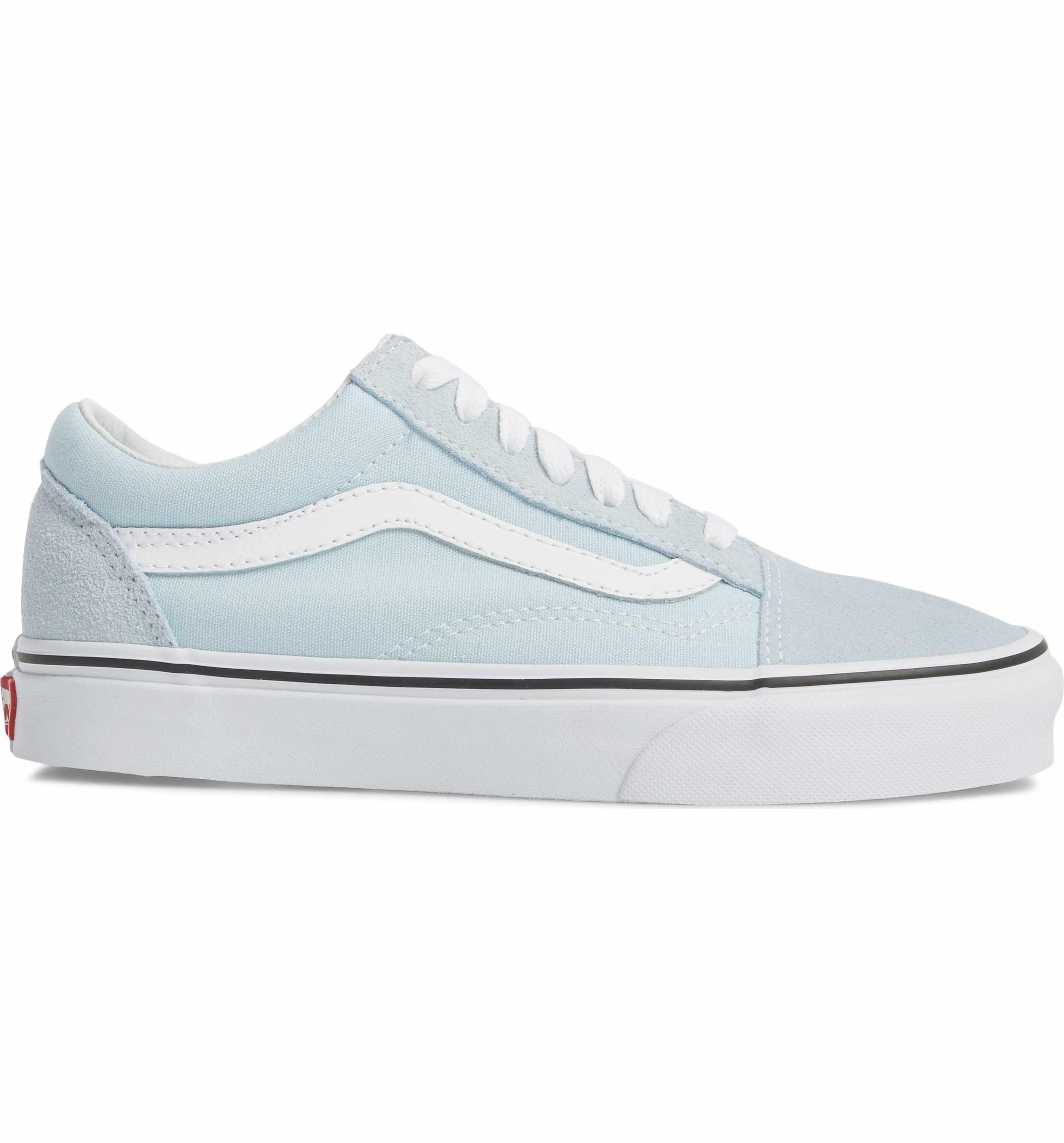 Baby Blue Vans Old Skool Sneaker Women Womens Sneakers Vans Old Skool Sneaker Sneakers