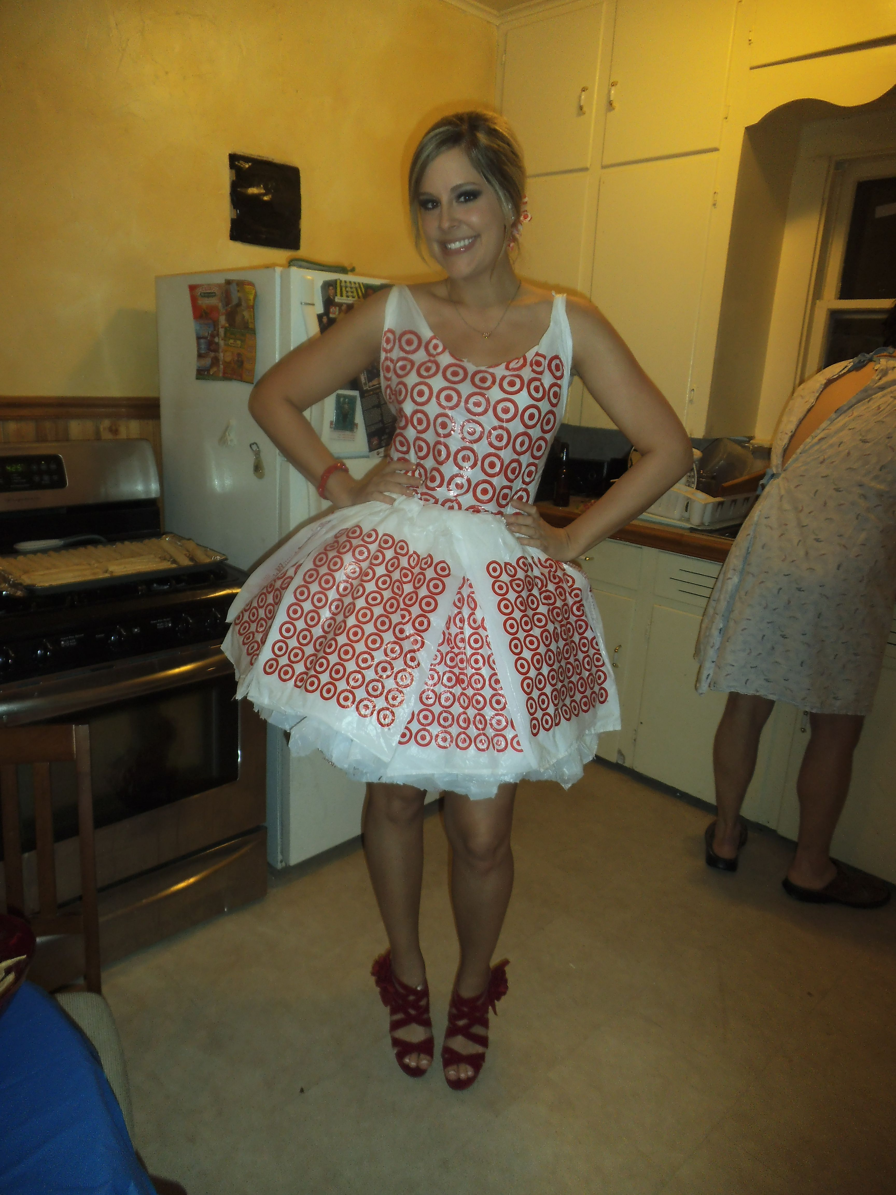 e83f302d74 dress i made entirely out of plastic bags for my abc bday party   fashiongiftideasmkbags