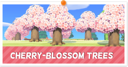 How To Make Shaped Ponds Acnh Animal Crossing New Horizons Switch Game8 In 2021 Cherry Blossom Tree Blossom Trees Cherry Blossom Petals